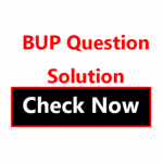 BUP Question Solution 2020-21 MCQ Answer PDF Download -